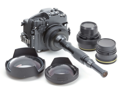 Wide variety of lens port to support from ultra macro to fish-eye imaging