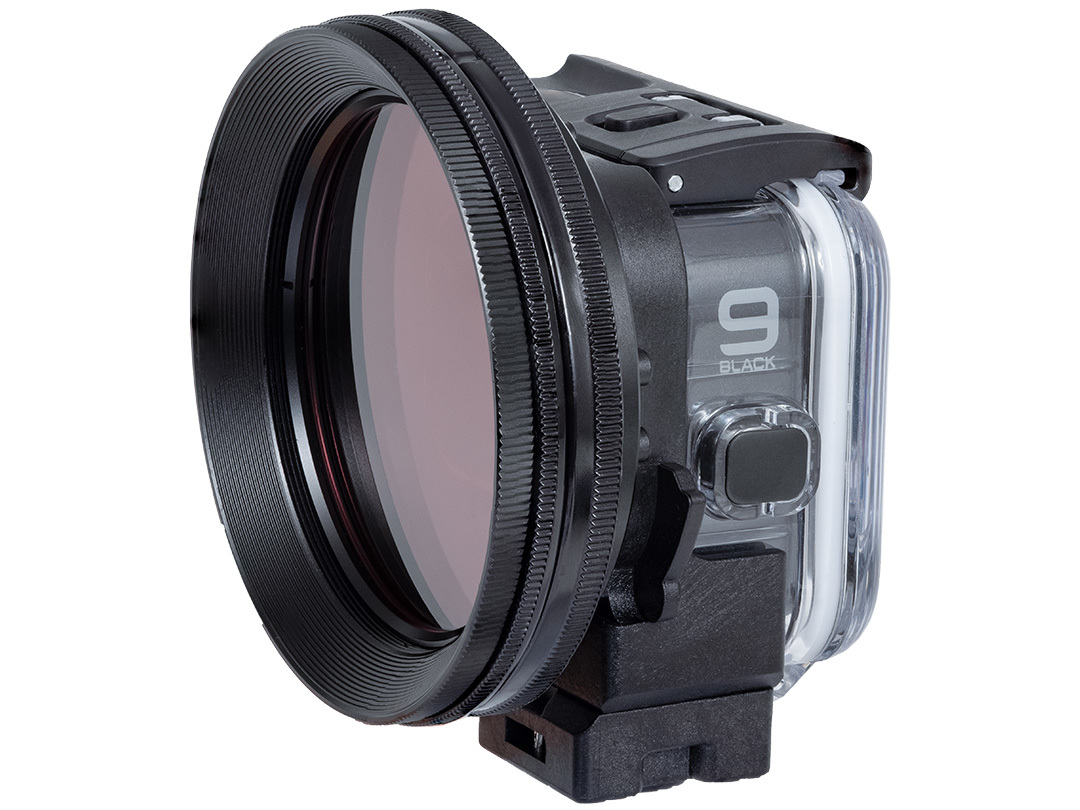 Set-up with UW Variable Red Filter M67